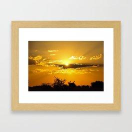 Beautiful Colours of the Sun Framed Art Print