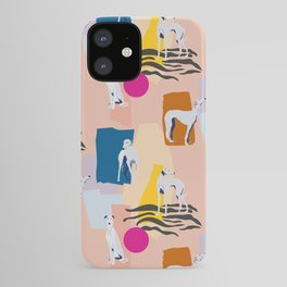 Greyhound colorful abstract pattern iPhone Case