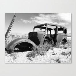 Antique car in Nevada Canvas Print