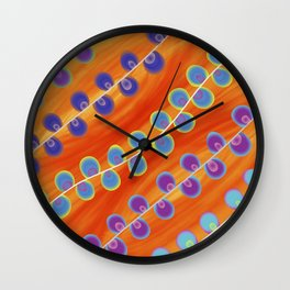 Colorful pearls on fire Wall Clock