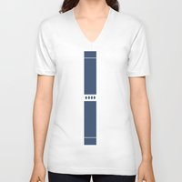 solid V-neck T-shirts featuring Solid by Fool design