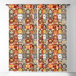 North American Owls Blackout Curtain