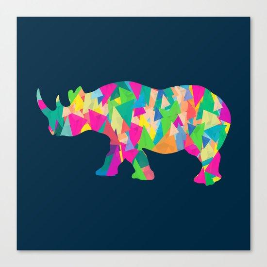 Abstract Rhino Canvas Print
