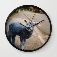 Blue? Sheep? Wall Clock