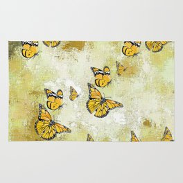 Adorable Butterflies, yellow Rug