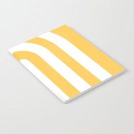 yellow and white retro u stripes Notebook