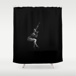 Pole dance dancer performs on stage Shower Curtain