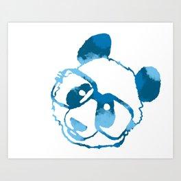 blue hip panda Art Print