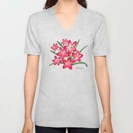 Rain Lilies Unisex V-Neck