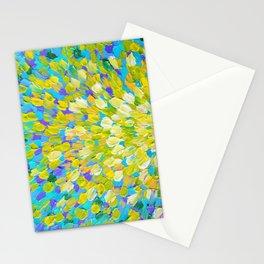 SPLASH 2 - Bright Bold Ocean Waves Beach Ripple Turquoise Aqua Lime Lemon Colorful Rainbow Wow Stationery Cards