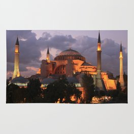 Hagia Sophia at Night Rug