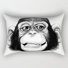 Cheeky baby chimp black and white. Rectangular Pillow