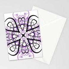 PURPLE SACRED GEOMETRY Stationery Cards