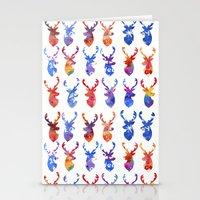 reindeer Stationery Cards featuring Reindeer by Verismaya