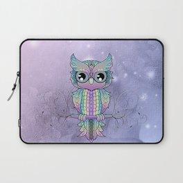 Wonderful colorful mandala owl Laptop Sleeve