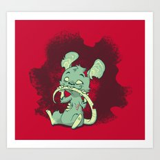Zombie Mouse Art Print
