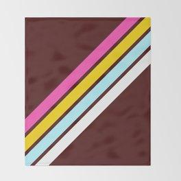 80's Style Retro Stripes Throw Blanket