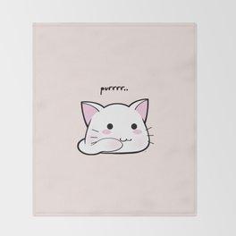Purrring Kawaii Kitten MEOW! =(^_^)= Throw Blanket