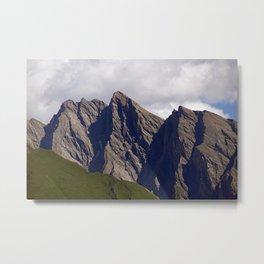 Mountain Peaks Alps Summer Landscape Metal Print