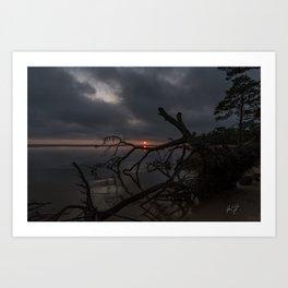 Dark Colington Sunset Art Print