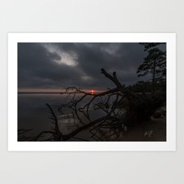 Dark Colington Sunset Art Print