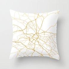 DRESDEN GERMANY CITY STREET MAP ART Throw Pillow