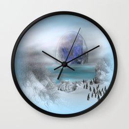 world of ice Wall Clock