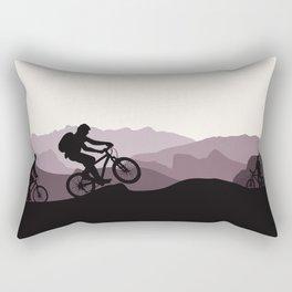 MTB Mountains Rectangular Pillow