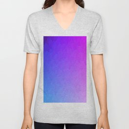 Purple, blue, and pink ombre flames Unisex V-Neck