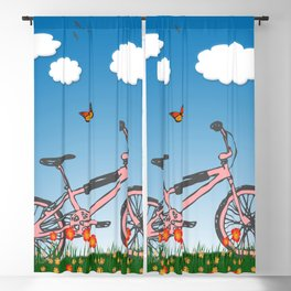 Pink bicycle Blackout Curtain