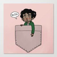 grantaire Canvas Prints featuring Pocket Grantaire by Antisepticbandaid