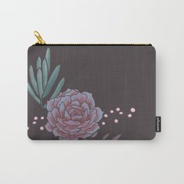 Earthy Brown Succulent Carry-All Pouch