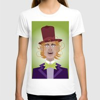 willy wonka T-shirts featuring Willy Wonka from Charlie and the chocolate factory, played by the great Gene Wilder by Joe Pugilist Design