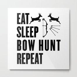 Hunter Bowhunter Bowhunting Huntress Huntsman Gift Metal Print