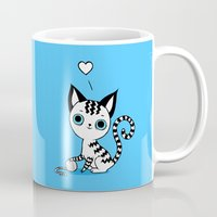kitten Mugs featuring Kitten by Freeminds