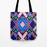 tarot Tote Bags featuring Tarot 1B by Schatzi Brown