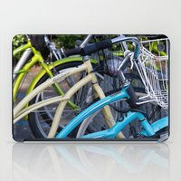 bicycles iPad Cases featuring Bicycles by Penelope Clute