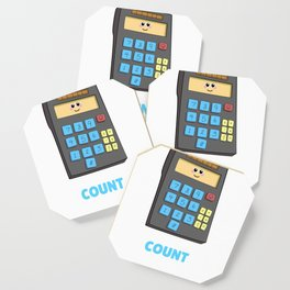 You Can Count On Me Cute Calculator Pun Coaster