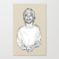 louis tomlinson Canvas Prints featuring Louis Tomlinson  by Cécile Pellerin
