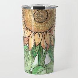 Cheerful Sunflower Travel Mug
