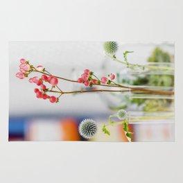 Graceful pink  flowers Rug