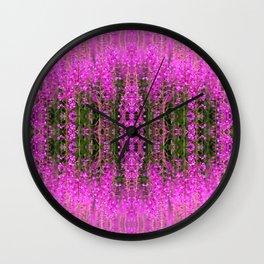 Rose-Bay Willow Herb - Ivan Tea Summer Floral pattern - Midsummer Flower Magic Beauty Wall Clock