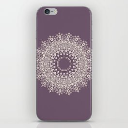 Mandala in Mulberry and White iPhone Skin