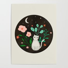 Luna the Cat Poster