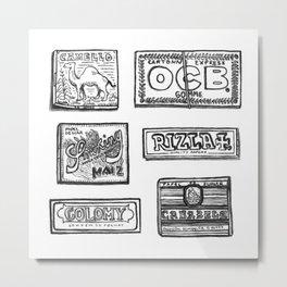 Papel de fumar Metal Print