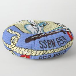 USS WILL ROGERS (SSBN-659) PATCH Floor Pillow