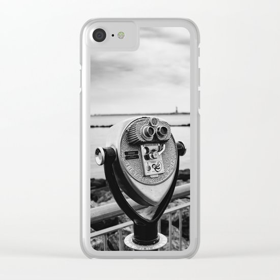 Looking At Lady Liberty Clear iPhone Case