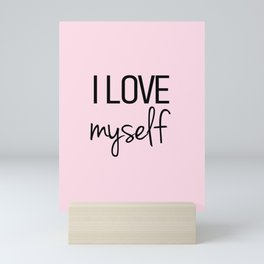 I love myself Pink Mini Art Print