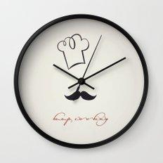 keep cooking Wall Clock
