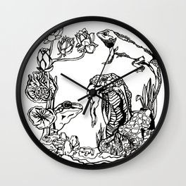 Cobra and the Frog King Wall Clock